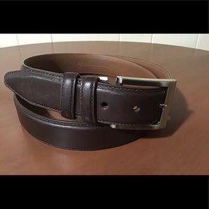 Allen Edmonds Mens Dress Belt, Basic Belt, Brown, 44, Leather, Designer
